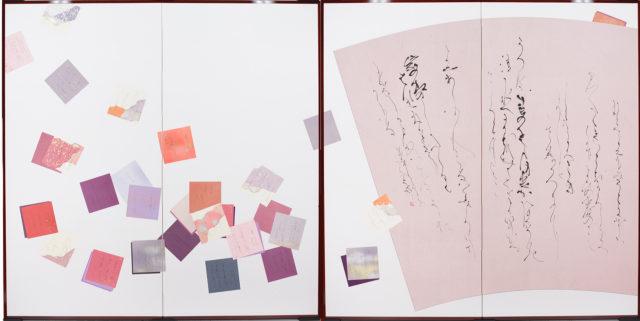 2007年 母娘展「舞ごころ」二曲一双屏風